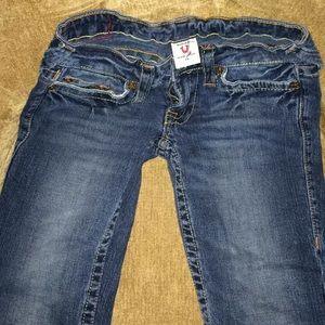 True religion straight leg skinny jeans